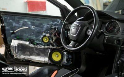 Audi A6 vytlmenie a montáž hudby – 1. diel
