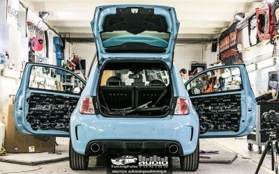 Ozvučenie a tlmenie Fiat 500 ABARTH